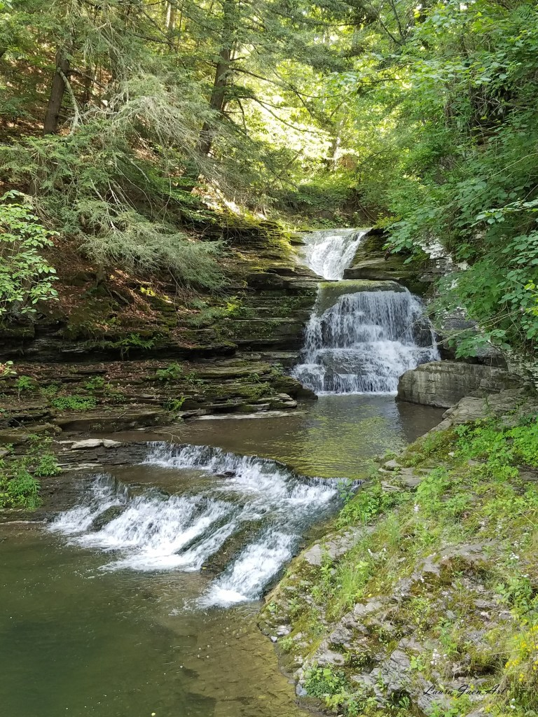 Photo of Fishkill Falls Robert H. Treman State Park in Ithaca NY by Laura Jaen Smith.