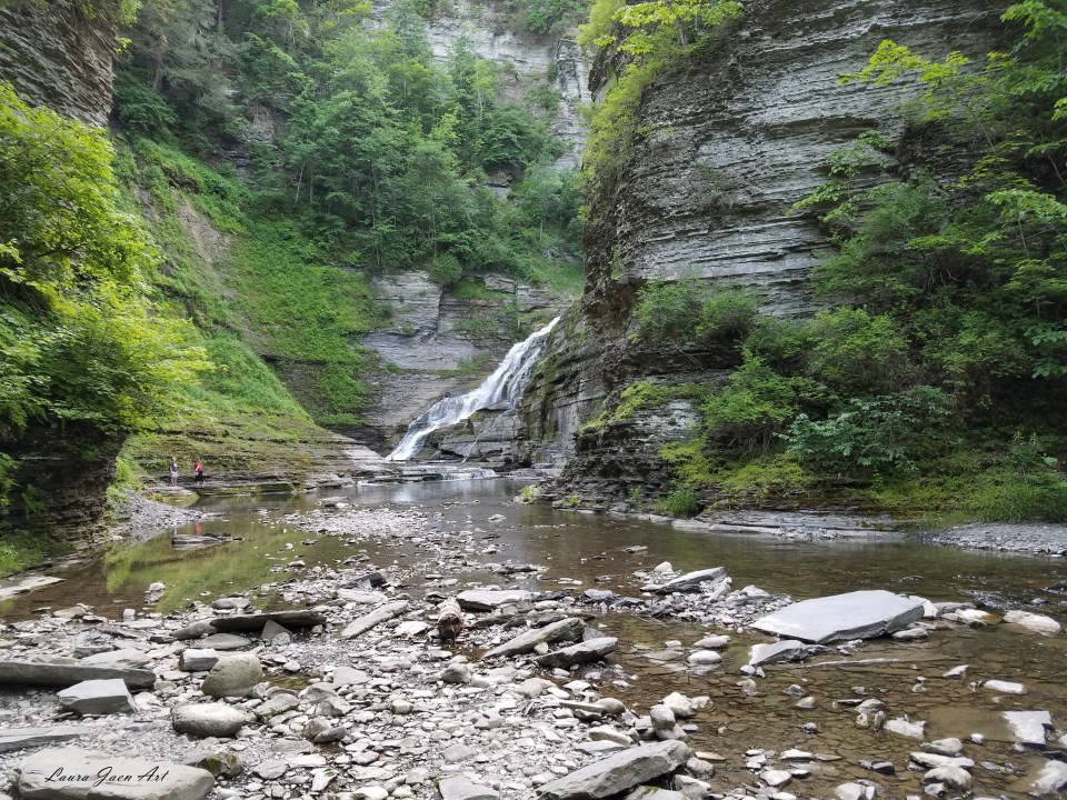 Photo of Lucifer Falls in Robert H. Treman State Park in Ithaca NY by Laura Jaen Smith.