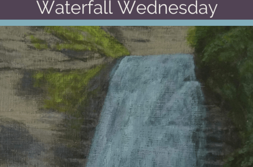 Stony Brook Lower Falls Waterfall Wednesday blog cover