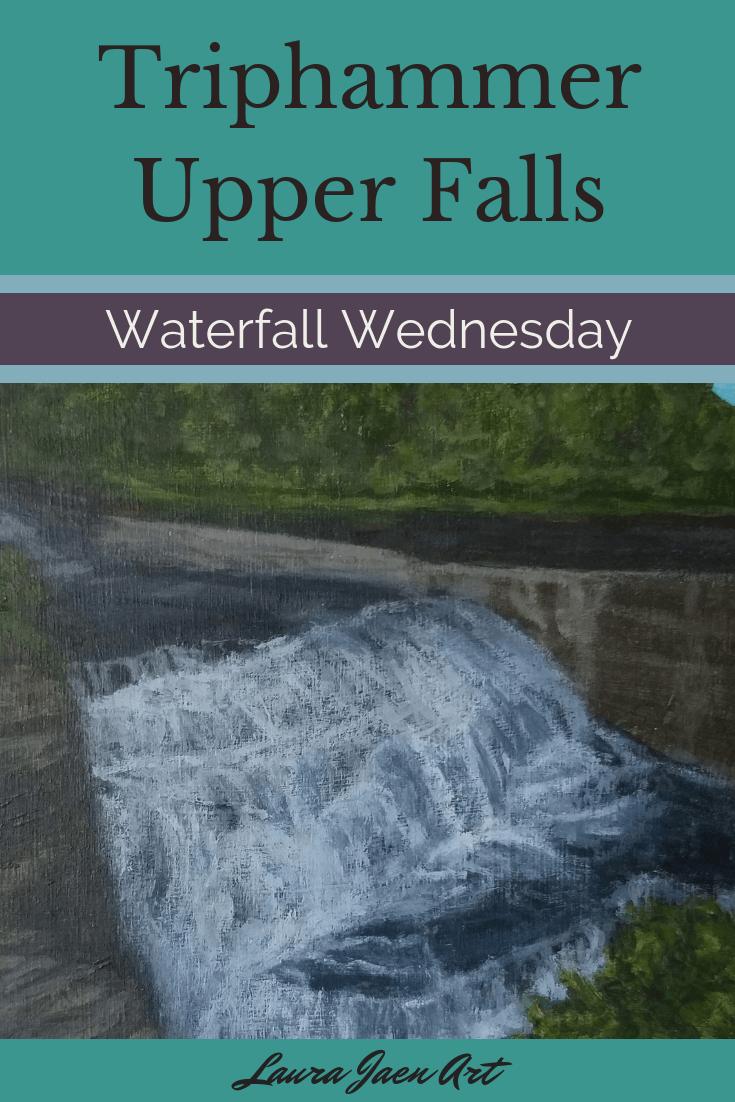 Triphammer Upper Falls Waterfall Wednesday blog cover
