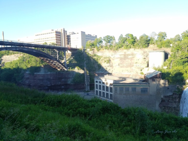 Photo of Lower Falls Genesee River in Rochester NY by Laura Jaen Smith