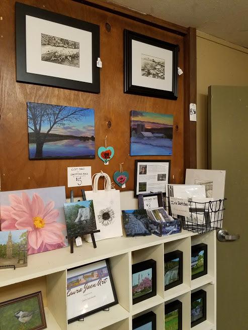 Laura Jaen Art shop space at Oldies But Goodies Big Flats