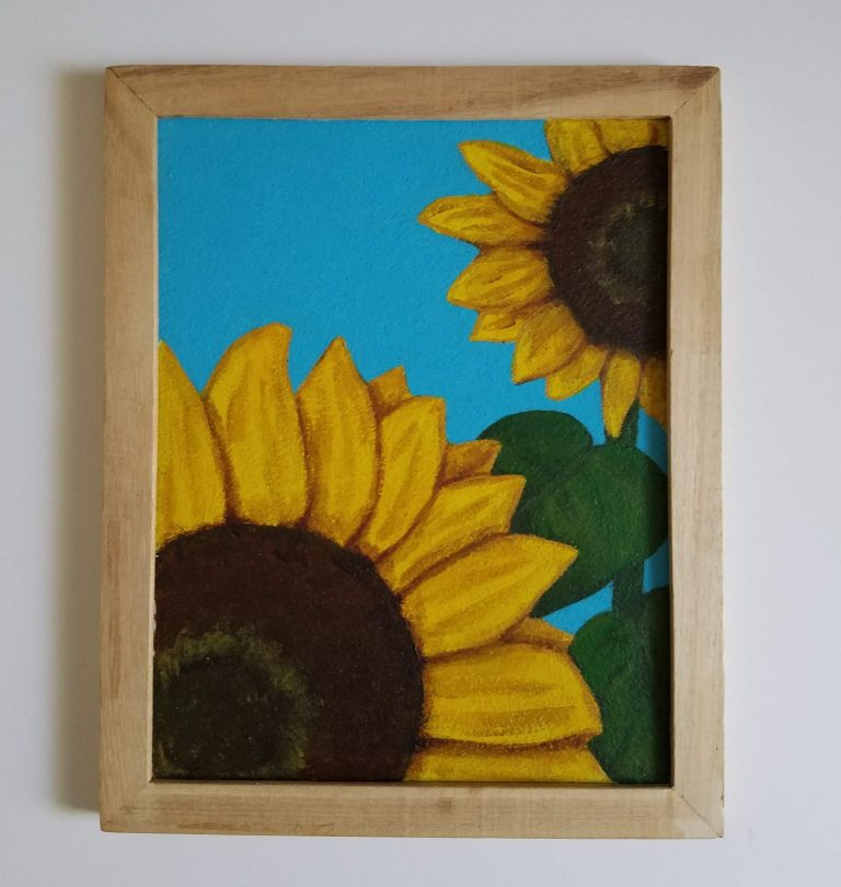 WIP Sunflower Bulletin Board by Laura Jaen Smith