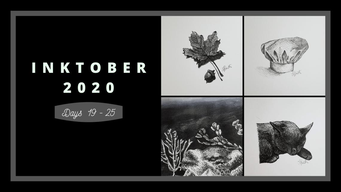 Inktober 2020 Days 19-25 blog cover