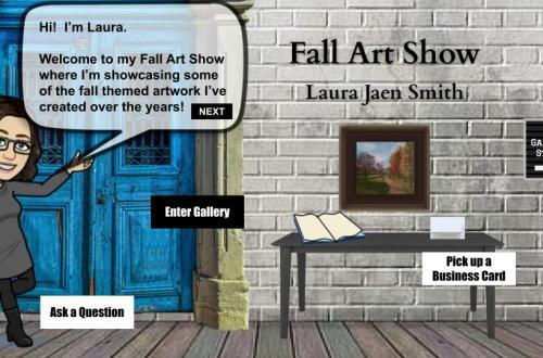 Virtual Fall Art Show interactive blog cover