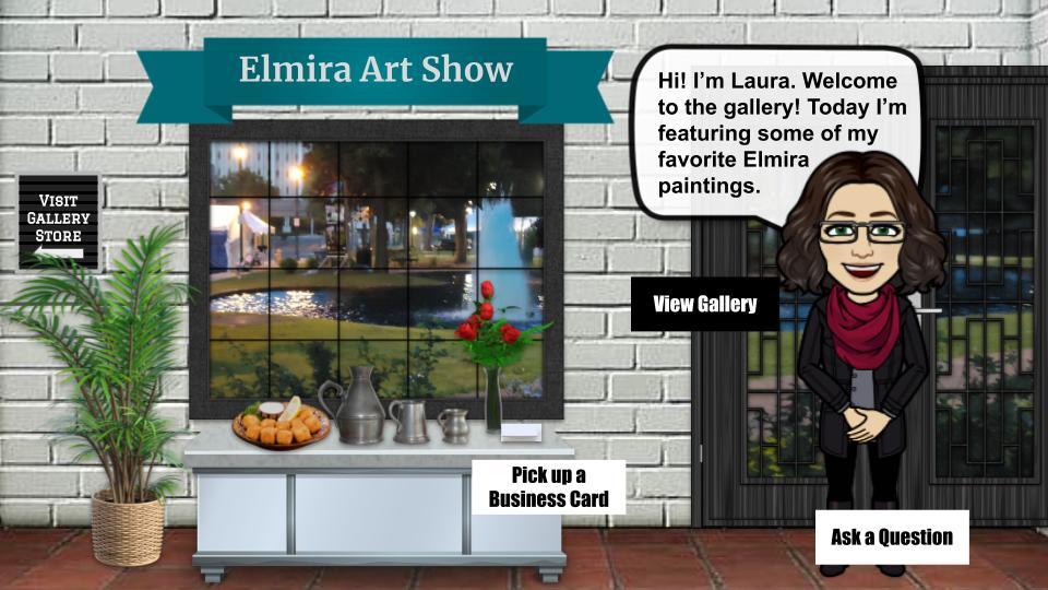 Elmira Art Show interactive art show blog cover