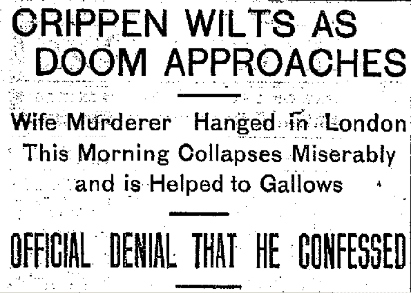 CLEWS Your Home for Historic True Crime: Crippen Innocent?!?!