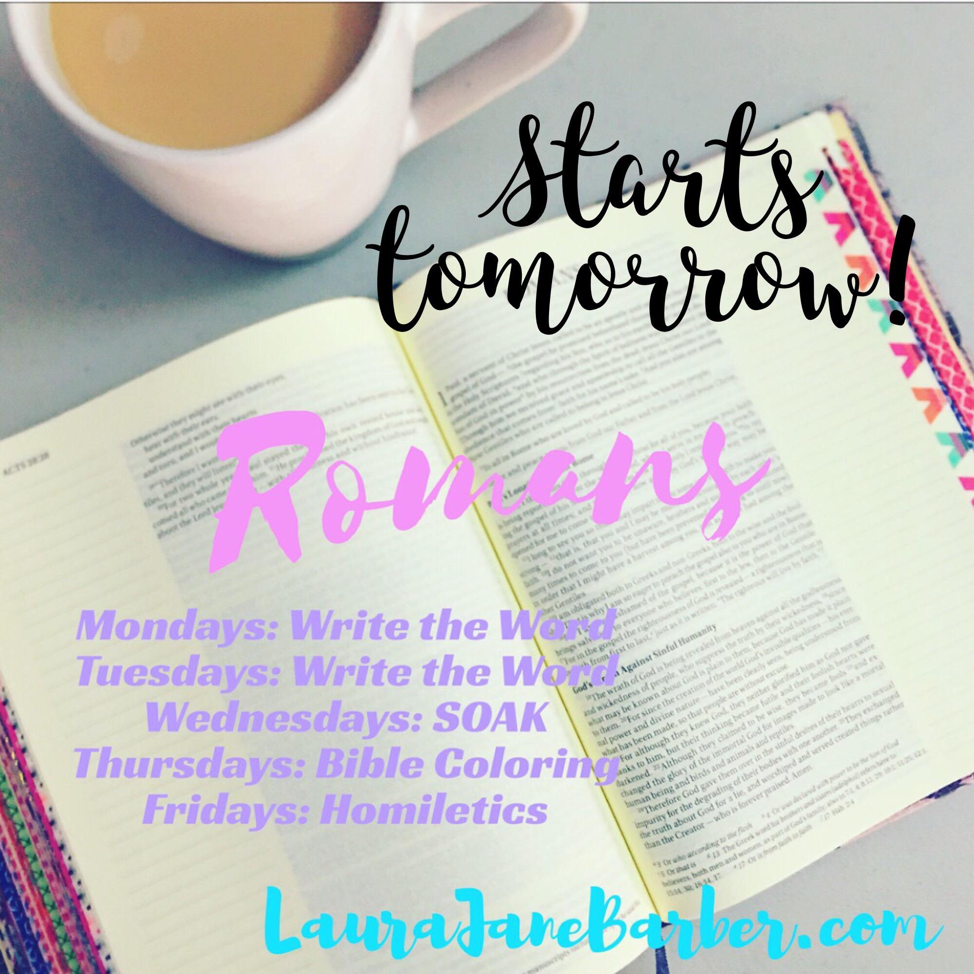 Romans Week 1 The Plan Laurajanebarber