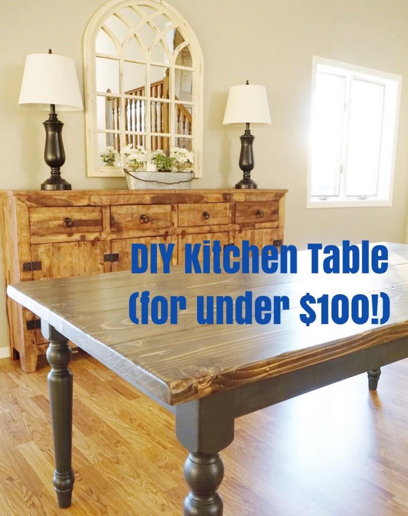 diy kitchen tables gel mat table flip for under 100