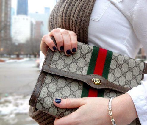 Bolsa Gucci clutch Horsebilt