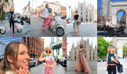 Barbie em Paris Milão NY Duomo