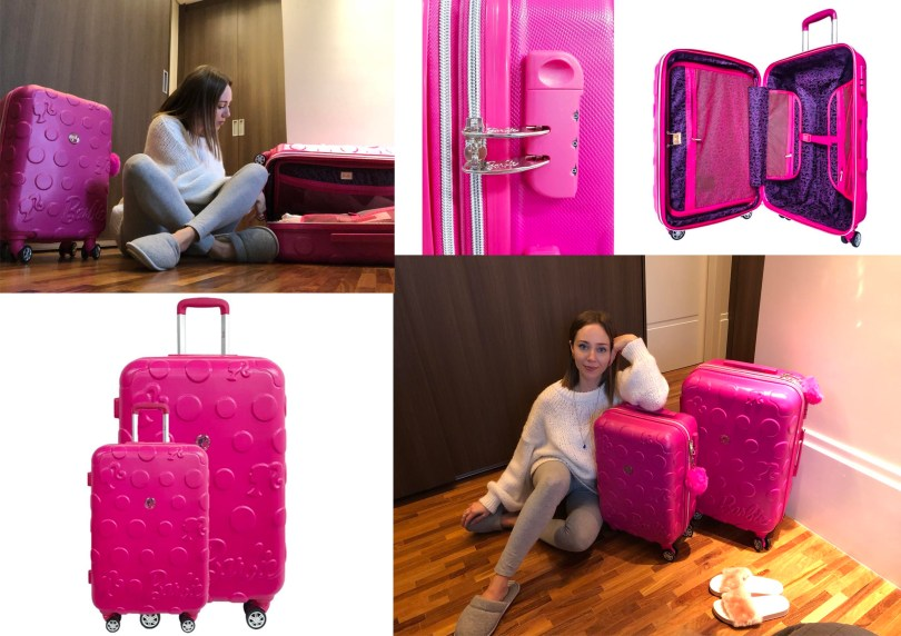 Conjunto de malas de viagem rígidas Barbie Mattel