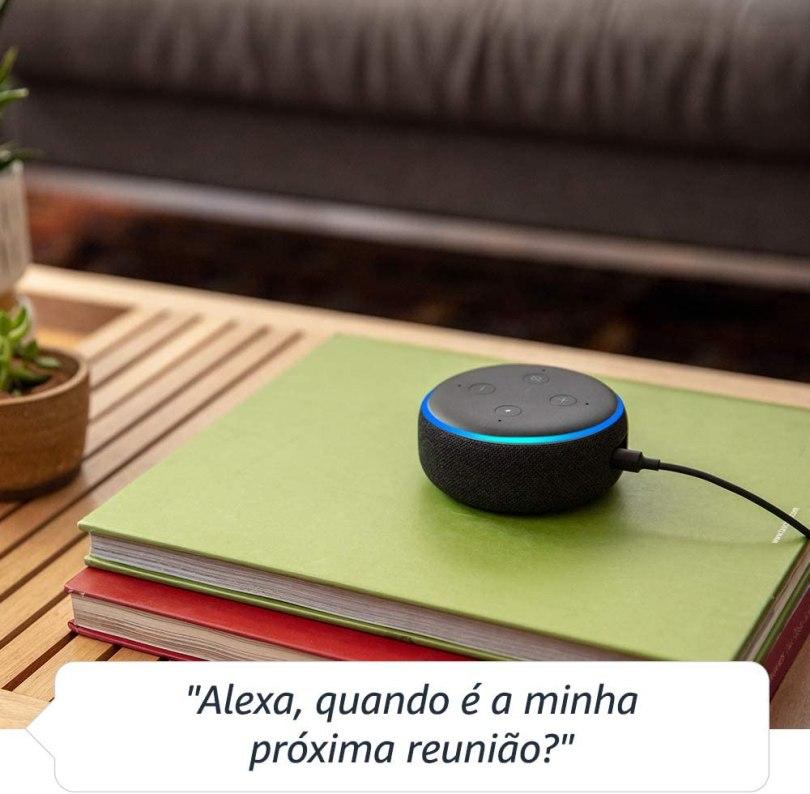 Echo Dot 3a geração Alexa Amazon