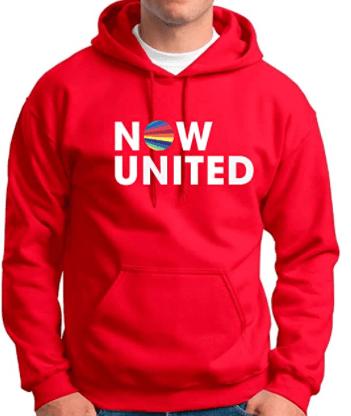 Blusa moletom capuz vermelho NOW UNITED