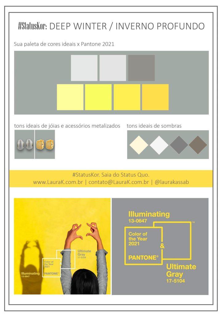 Como usar cores Pantone 2021 na paleta Inverno Profundo