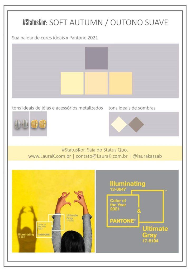 como usar cores pantone 2021 na paleta de outono suave