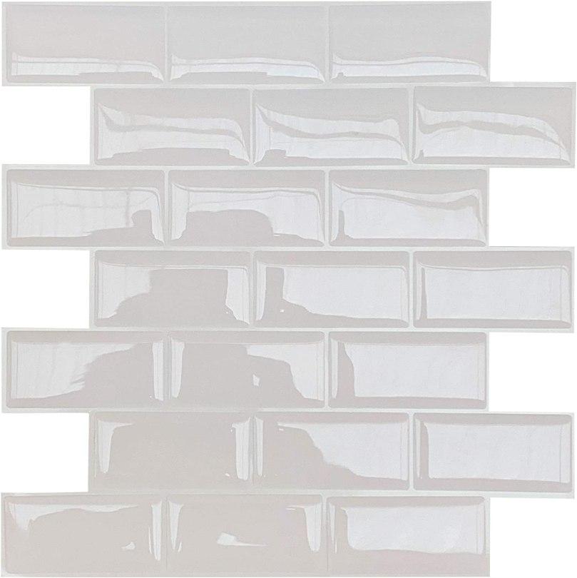 azulejo branco metrô adesivo para cozinha