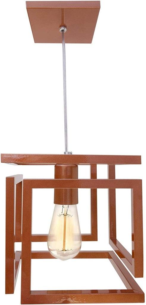 pendente cobre cubo para balcão cozinha