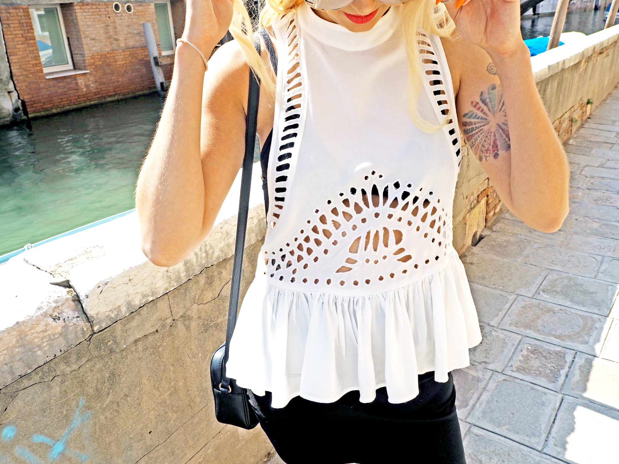 Laura Kate Lucas - Manchester Fashion, Travel and Lifestyle Blogger | Venice Outfit White Detail Top
