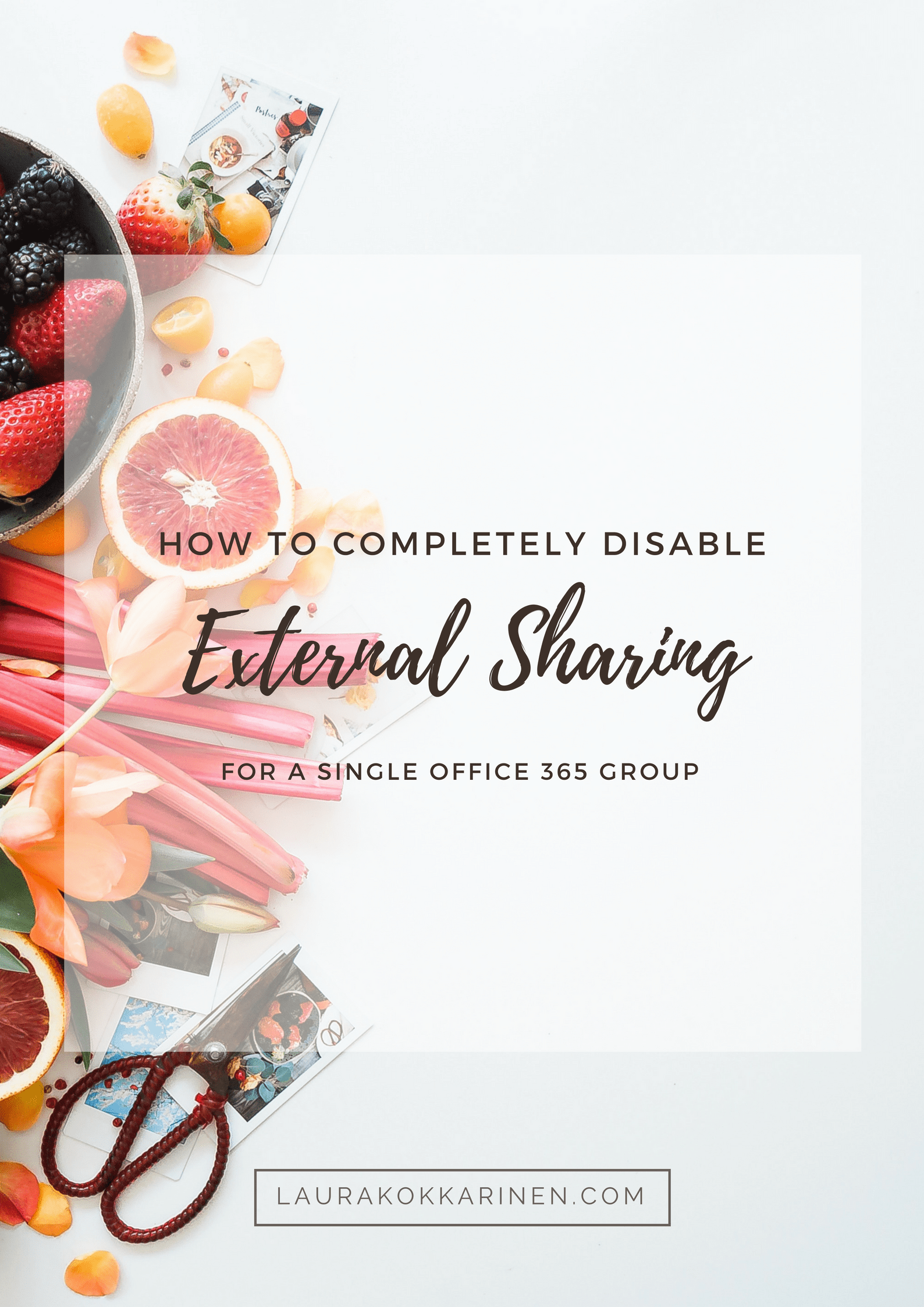 how to completely disable external sharing for a single office 365 group