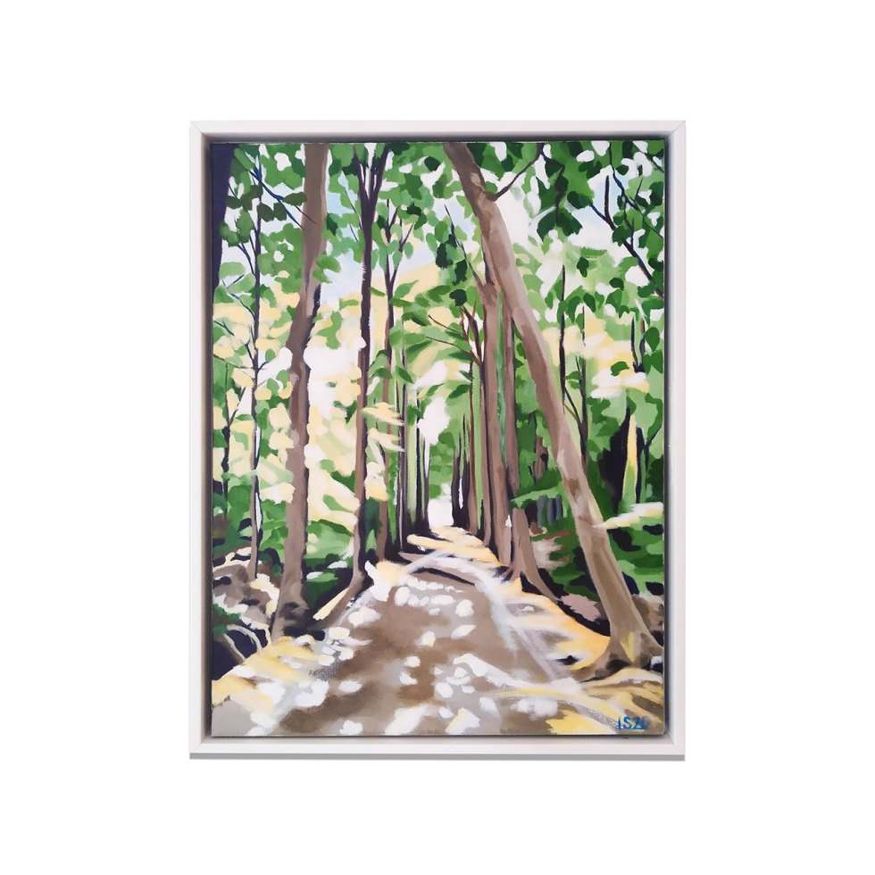 De Haan Forest Light, acrylic on canvas, 30 x 40 cm, 2020, sold (posters available)