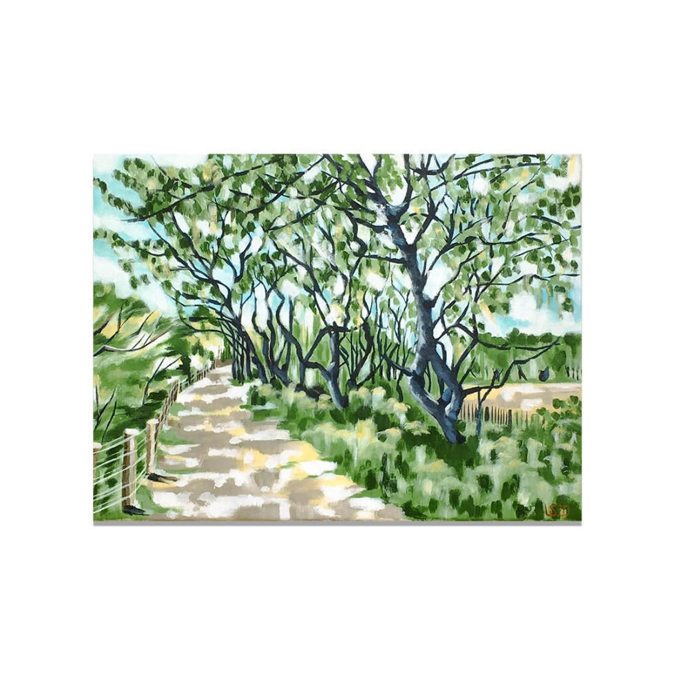 De Haan Tree-lined Path, acrylic on canvas, 30 x 40 cm, 2020, sold (posters available)