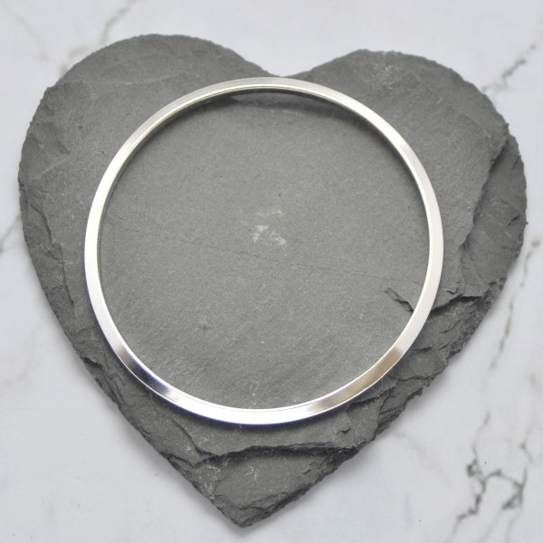 Solid Silver Ladies Bangle by Laura Llewellyn Design