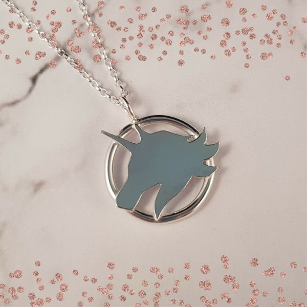 Silver Unicorn Pendant by Laura Llewellyn Design