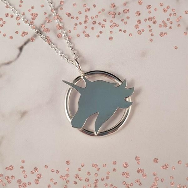 Silver Unicorn Pendant by Laura Llewellyn Design
