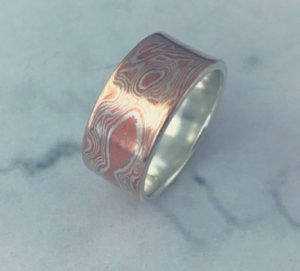 Mokume Silver and Copper Bespoke Design Ring
