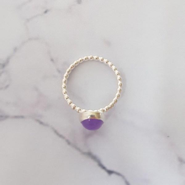 Purple Jade summer Stacking Ring