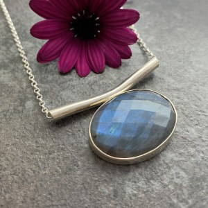 Blue gemstone pendant