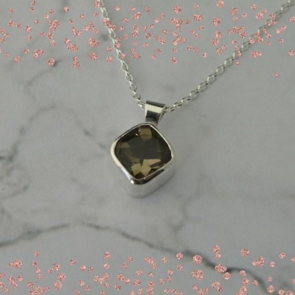 Smokey Quartz Gemstone Pendant by Laura Llewellyn Design