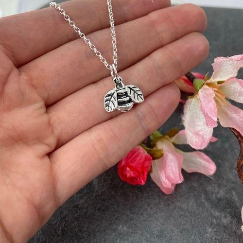 Bee pendant handmade in silver