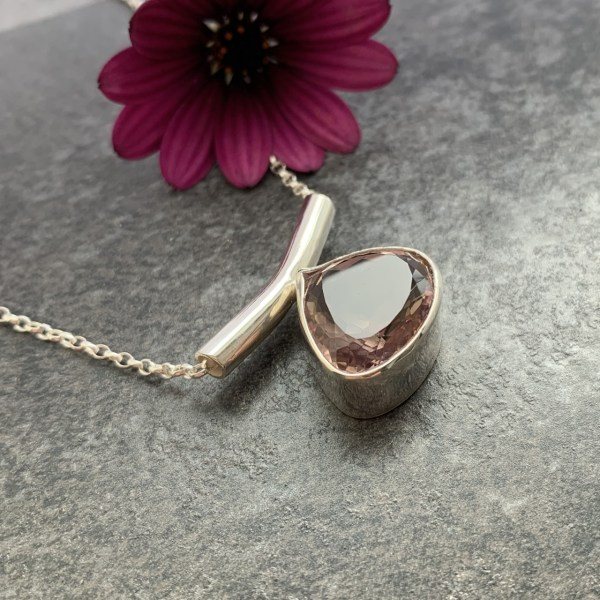Ametrine gemstone pendant