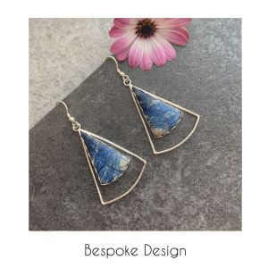 Blue earrings bespoke design