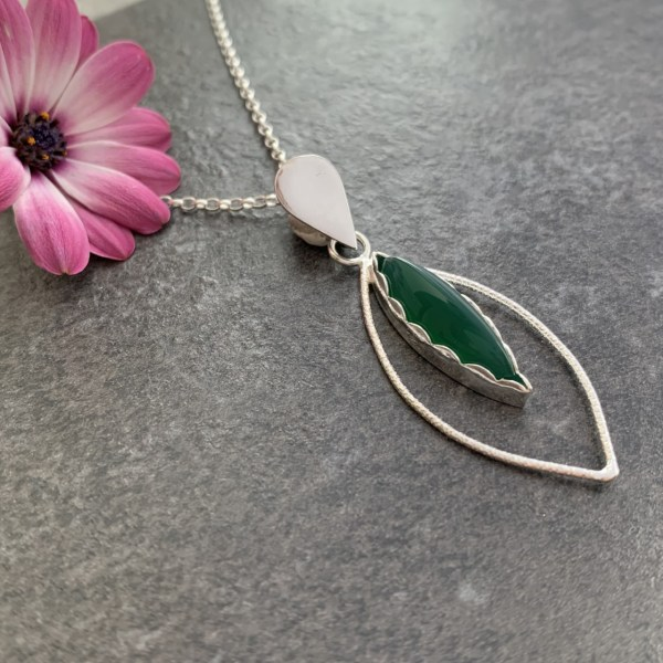 Green jade gemstone pendant