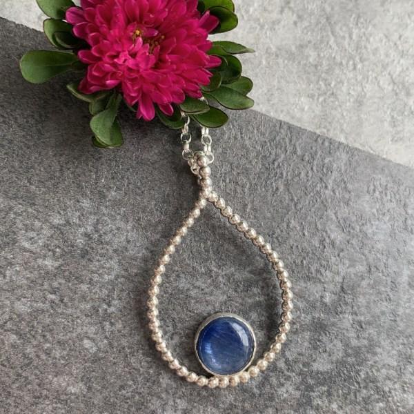 Blue kyanite Gemstone necklace