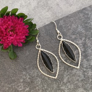 Black Onyx Gemstone Earrings