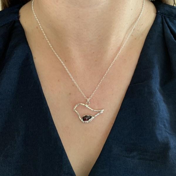 Silver Christmas Robin Pendant
