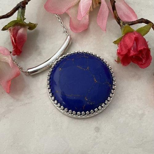 Blue Lapis Lazuli Gemstone Pendant