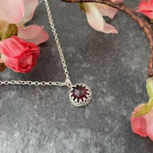 Red garnet gemstone pendant