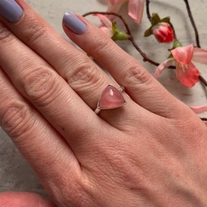 Rhodochrosite Gemstone Ring
