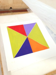 My first print... A larger scale, but coincidentally similar colours to Vikki... Equally as striking as a first geometric print. To be continued....