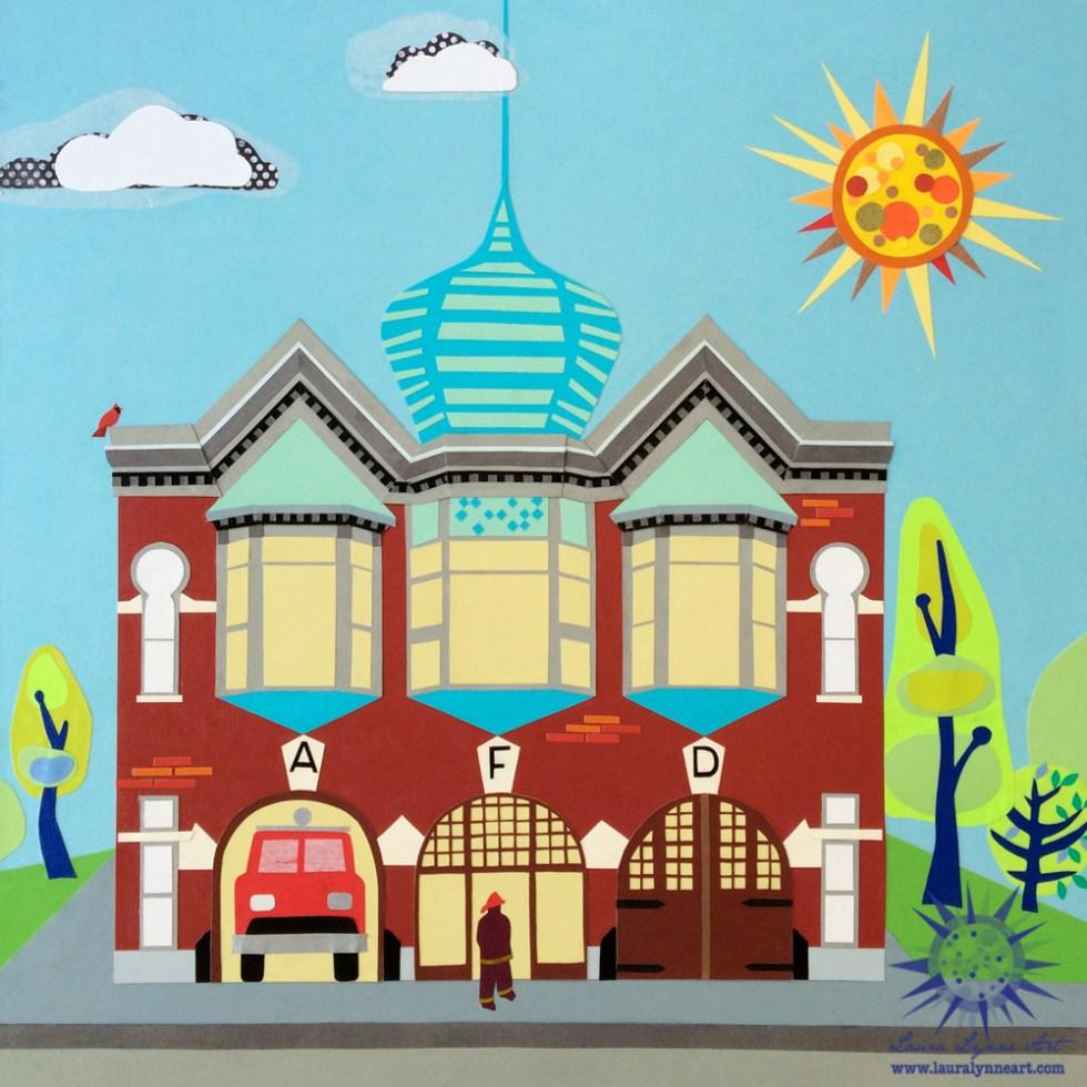 Aurora Regional Fire Museum Illustration