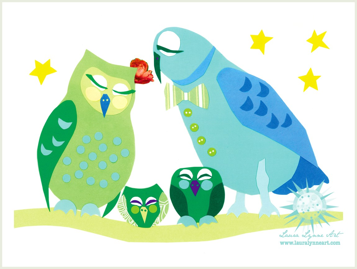 illustration of sleeping owl family on a branch with stars.jpg