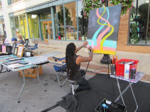 inclusive diverse artist community aurora illinois art scene public art display