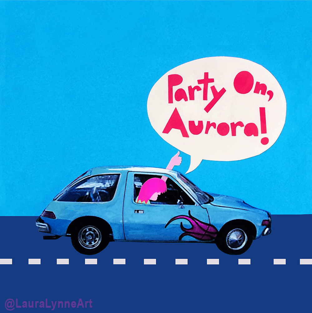 Wayne's World Car Art Print