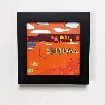 Black Framed Orange Musky Art