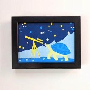 framed turtle wall art